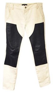 Tibi Slimfit Work Trousers Skinny Pants Black and White