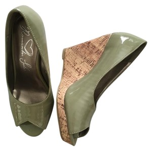 Romantic Soles Green New Corke Sage Wedges