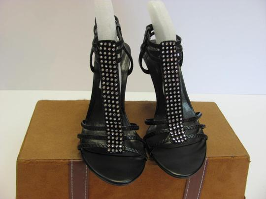 Paprika Size 7.00 M Rhinestones Very Good Condition Black Sandals Image 2