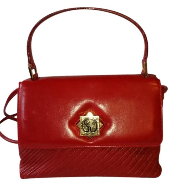 Item - Made In Italy Red Leather Cross Body Bag
