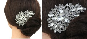 9.2.5 Engagement Mother Daughter Crystal Tiara Comb Leaf Cz Diamond Hair Accessory