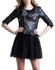 RED Valentino black Leather Jacket