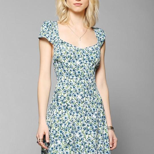 outlet Kimchi Blue White And Blue Dress - 55% Off Retail