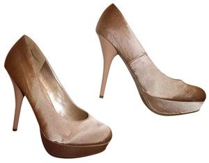Mossimo Supply Co. Satiny Champagne Platforms