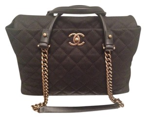 Chanel Quilted Leather Tote in Black