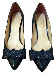 The Shoe New York Glitter Black Flats