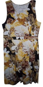 Isaac Mizrahi short dress YELLOW MULTI on Tradesy