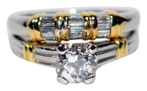 Scott Kay Scott Kay 1.05tcw Mine Cut Diamond Platinum/18kt Yellow Gold Ring