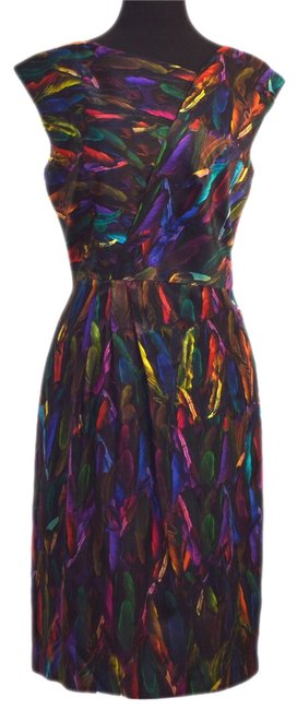 Item - Black / Purple / Green / Reds Long Night Out Dress Size 8 (M)