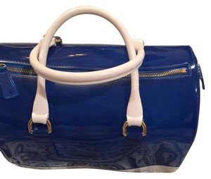 Candy Bag Satchel in Blue/White