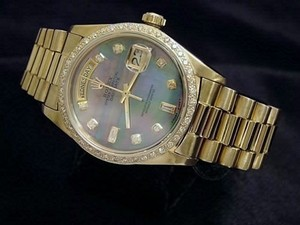 Rolex Rolex Solid 18kt 18k Yellow Gold Day Date President Tahitian Mop Diamond 18038