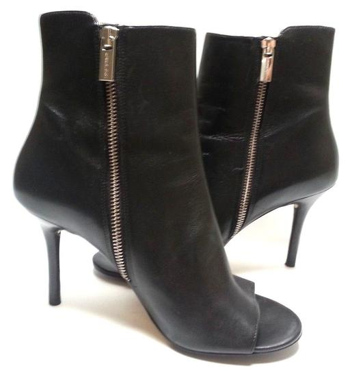 MICHAEL Michael Kors Leather Upper Style Peep Toe Buckle Closures Style N40t4cshe5l Black Boots Image 1