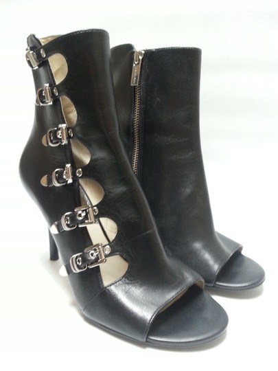 MICHAEL Michael Kors Leather Upper Style Peep Toe Buckle Closures Style N40t4cshe5l Black Boots Image 2