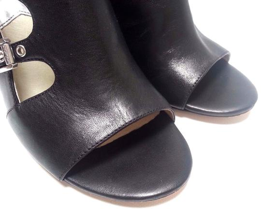 MICHAEL Michael Kors Leather Upper Style Peep Toe Buckle Closures Style N40t4cshe5l Black Boots Image 6