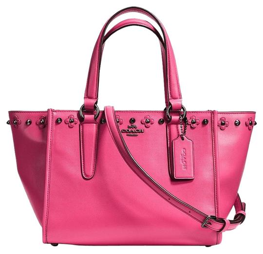 Preload https://img-static.tradesy.com/item/18253000/coach-crosby-37707-mini-carryall-with-floral-rivets-in-dahlia-pink-leather-satchel-0-1-540-540.jpg