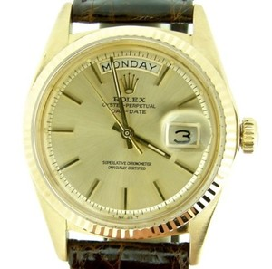Rolex Mens Rolex Solid 18k Yellow Gold Day-date President Watch Champagne Brown 1803