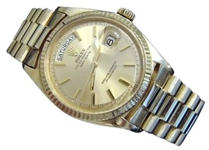 Rolex Rolex Solid 18kt 18k Yellow Gold Day Date President Watch W Champagne Dial 1803