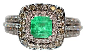 LeVian LeVian Colombian Emerald & Diamond Ring