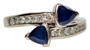 LeVian LeVian 2tcw Blue Sapphire & Diamond 14kt White Gold Ring