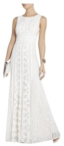 BCBGMAXAZRIA Gown Empire Waist Lace Dress
