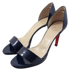 Christian Louboutin Blue Patent Leather Navy Pumps