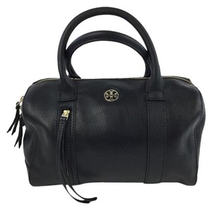 Tory Burch Tory Brody Leather Satchel in Black