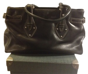 Cole Haan Trinity F04 Classic Stylish Luxury Leather Satchel in Black