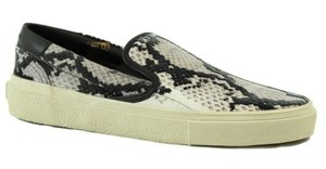 Saint Laurent Ysl 366782 Ayer Reticula Flock Leather Slip On Sneaker Multi-Color Athletic
