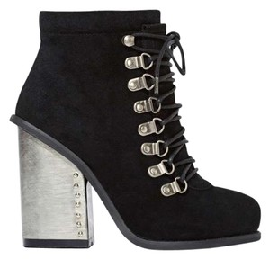 Jeffrey Campbell Josian Suede Black Boots
