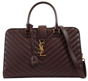 Saint Laurent Ysl 357396 Ysl Satchel in Burgundy