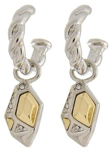 Two-tone Post Dangle Earring Set