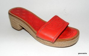 Tory Burch Fleming Espadrille Slide Pepper Red Sandals