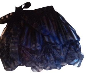 Betsey Johnson Buble Lampshade Skirt Black