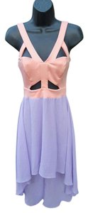 lavender peach Maxi Dress by Solemio Hi Lo