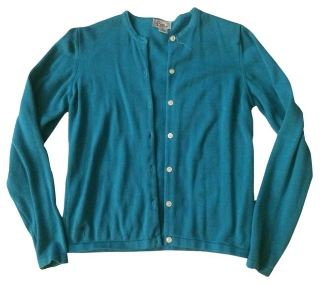 Preload https://item3.tradesy.com/images/lilly-pulitzer-turquoise-cardigan-basic-blue-sweaterpullover-size-0-xs-1825522-0-0.jpg?width=400&height=650