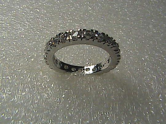 Unknown 14k White Gold Filled White Topaz Band Ring Image 2