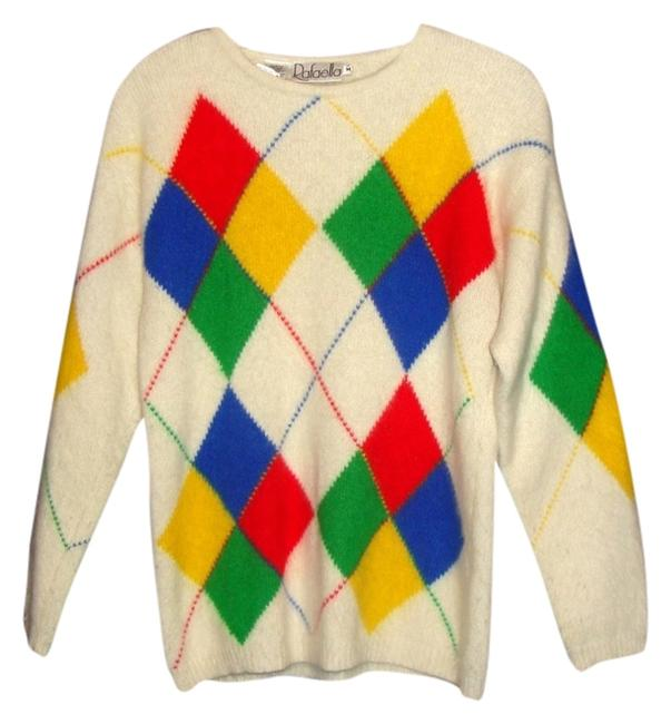 Preload https://item2.tradesy.com/images/rafaella-multi-color-vintage-cream-white-red-blue-yellow-argyle-lambswool-rabbit-hair-sweaterpullove-1825561-0-0.jpg?width=400&height=650