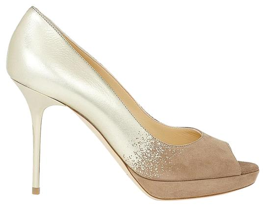 Jimmy Choo Limited Edition Champagne, gold, nude, beige, taupe Platforms Image 1