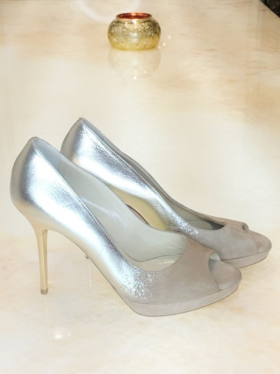 Jimmy Choo Limited Edition Champagne, gold, nude, beige, taupe Platforms Image 2