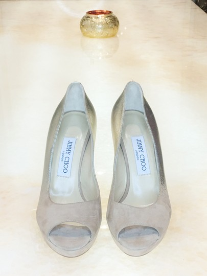 Jimmy Choo Limited Edition Champagne, gold, nude, beige, taupe Platforms Image 4