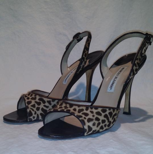 Manolo Blahnik Animal Print Sandals Image 3