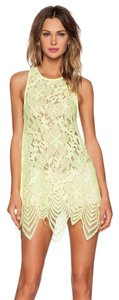 For Love & Lemons short dress Lemon Drop Lace Scalloped on Tradesy