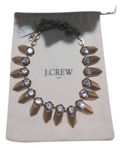 J.Crew J Crew Brass and Crystal Necklace NWT