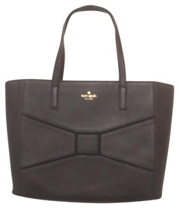 Kate Spade New Nwt Leather Satchel Tote in Black