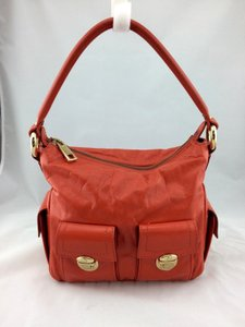 Marc Jacobs Leather Satchel in Orange