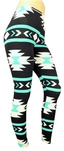 Buskins Teal, white, black Leggings