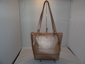 Fossil Gift Top Zip Shopper Tote in Gold (ROSE)