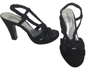 American Eagle Outfitters Heels Braided Black Sandals