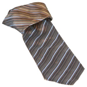 John W. Nordstrom John W. Nordstrom Brown Multicolor Stripe Men's Silk Tie 20867