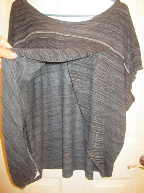 Free People Worn Once Relaxed Fit Open Super Soft Material T Shirt Black and White